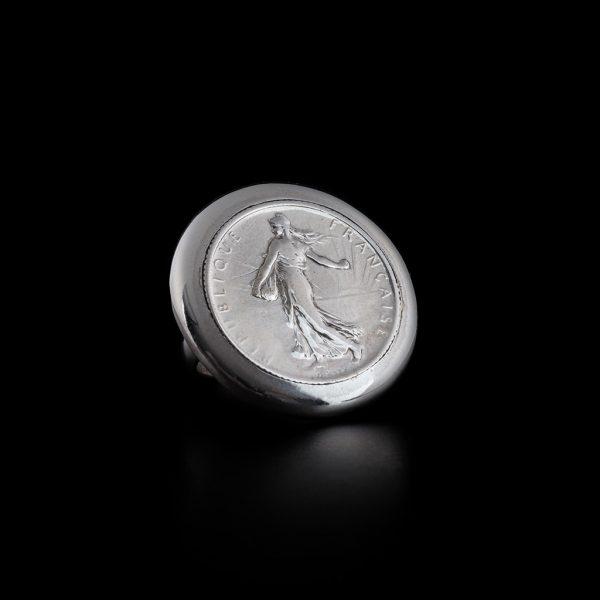 Bague 1 franc plate en argent le bijou français Castres