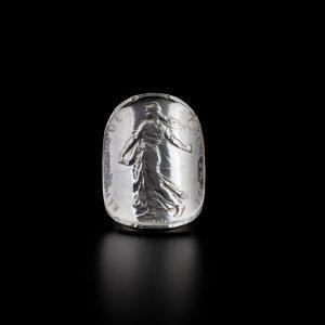 Bague 5 francs en argent le bijou français Castres