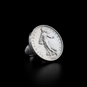 Bague chevalière 5 francs en argent le bijou français Castres