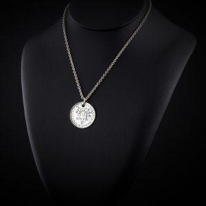Collier sautoir pendentif en argent 2 francs le bijou français Castres