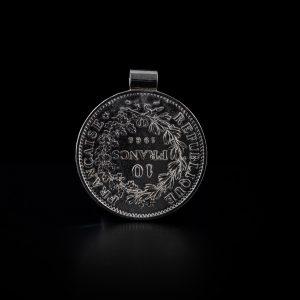 Pendentif tube en argent 10 francs le bijou français Castres