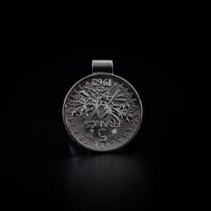 Pendentif tube en argent 5 francs le bijou français Castres