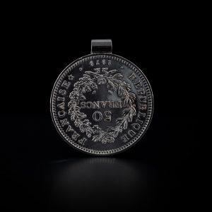 Pendentif tube en argent 50 francs le bijou français Castres