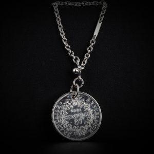 Porte clé en argent 10 francs le bijou français Castres