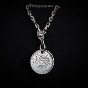 Porte clé en argent 5 francs le bijou français Castres