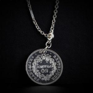 Porte clé en argent 50 francs le bijou français Castres